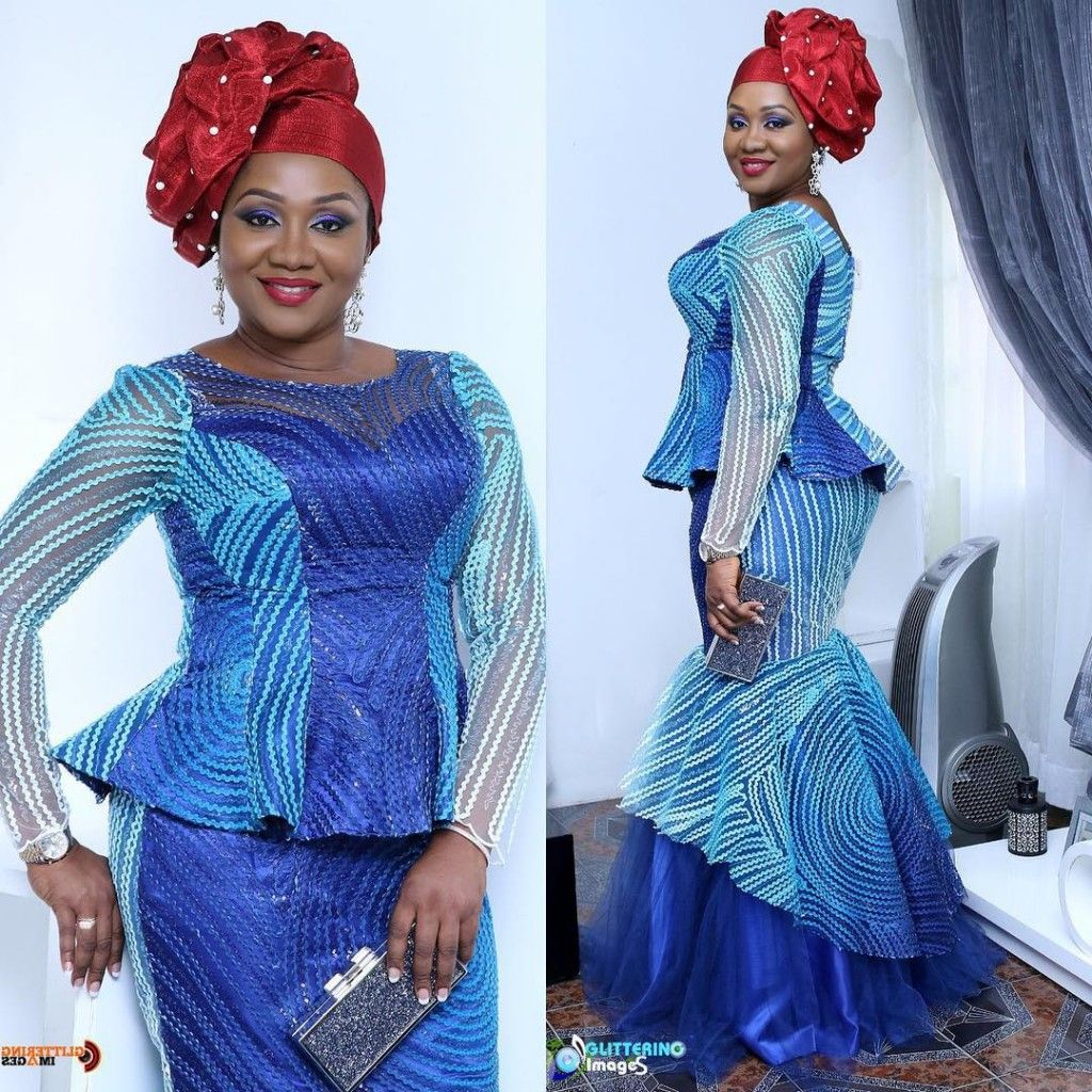 Latest asoebi lace skirt and blouse styles – Girl factory, mature ...