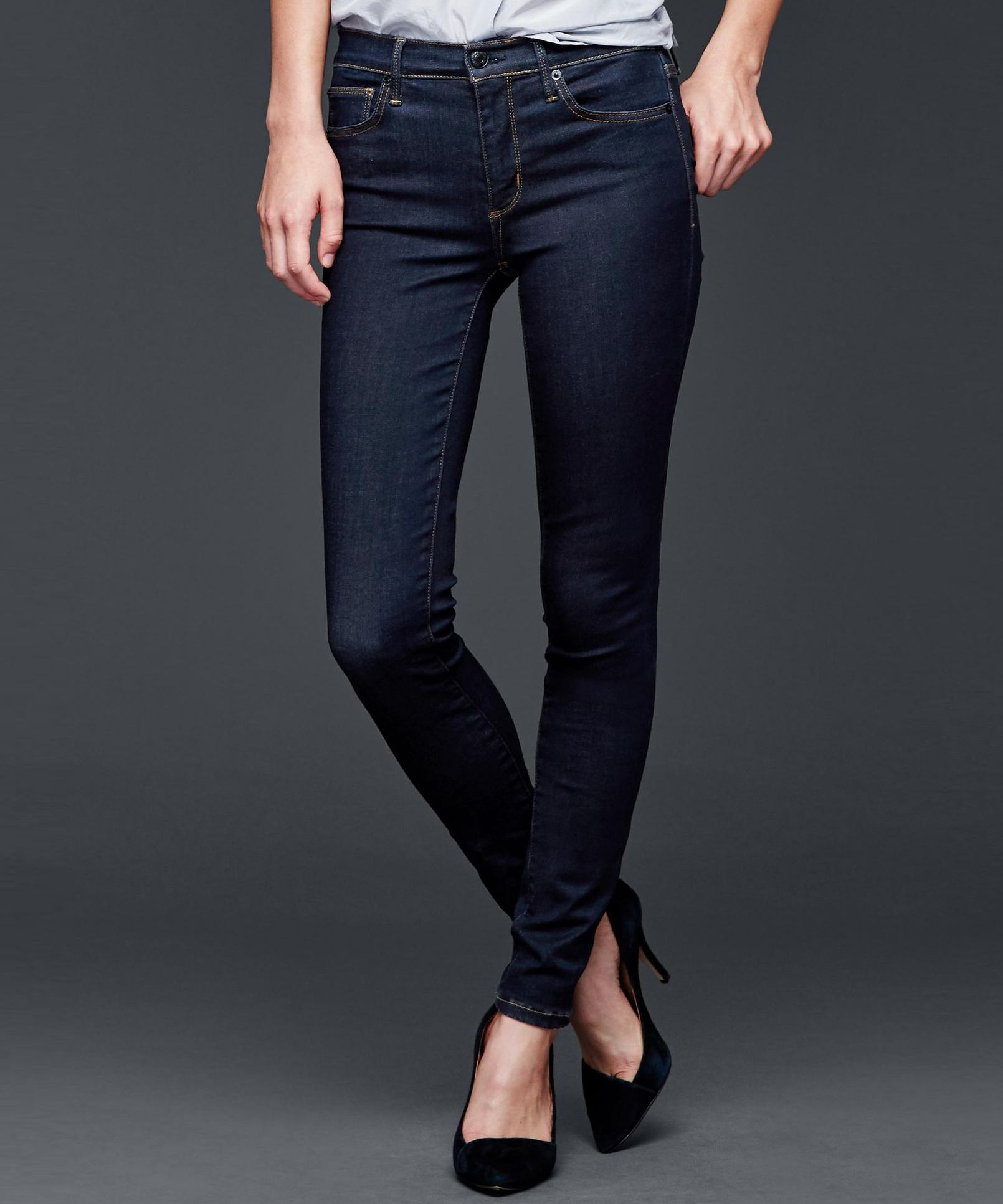 A Guide to the Best Jeans for Big Butts  - Gap 'High Stretch 1969 True Skinny' jeans / Gap Authentic 1969 Perfect Boot Jeans