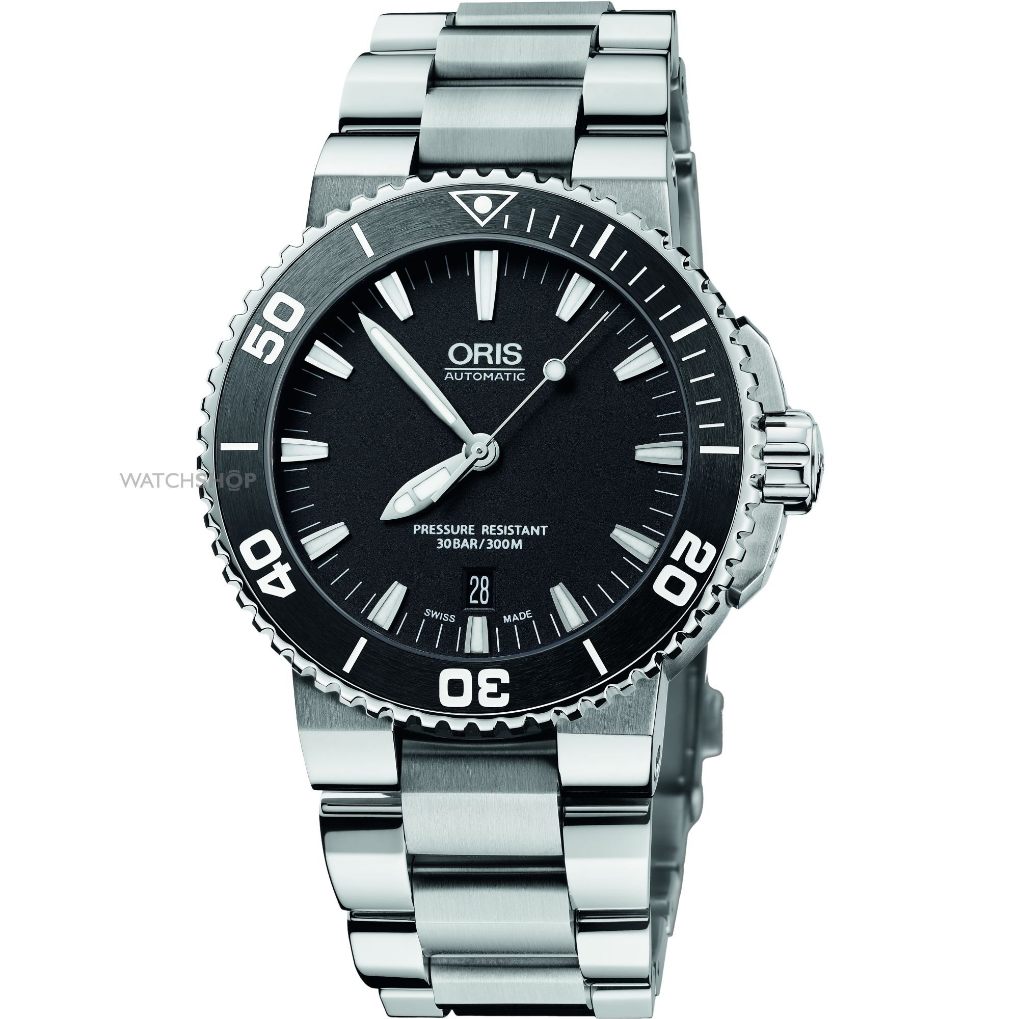 Mens Oris Aquis Date Automatic Watch 0173376534154-0782601PEB 249a44c6e88