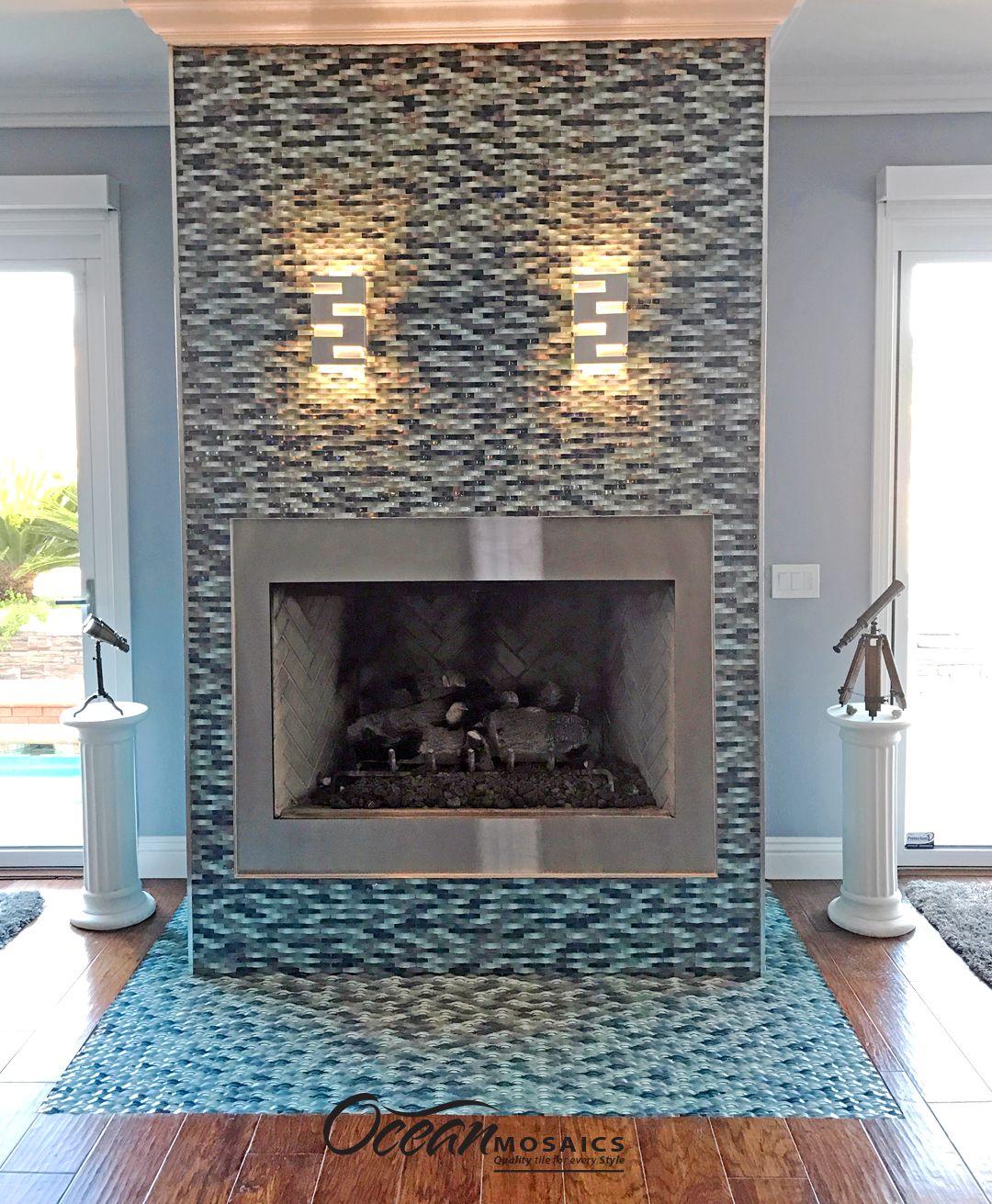 tile fireplace tile modern fireplace