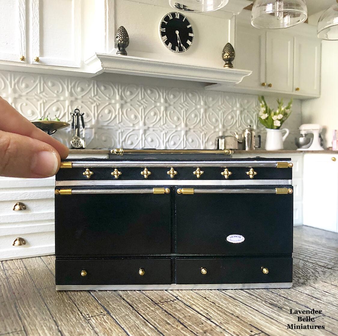 Miniature Lacanche stove 🖤 | Miniature kitchen, Miniatures ...