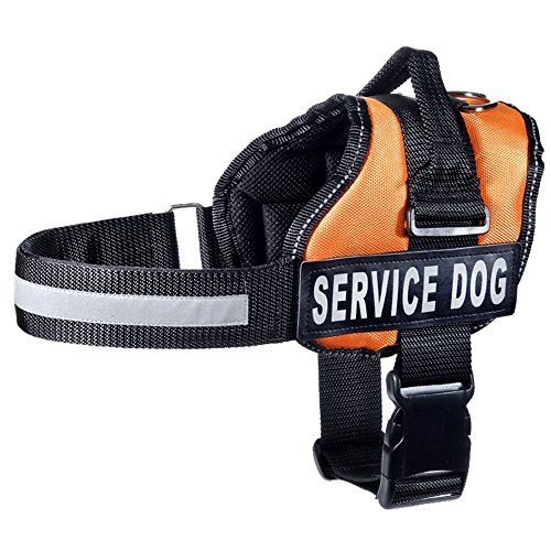 Petpets Service Dog Vest Pet Soft Harness With 2 Removable