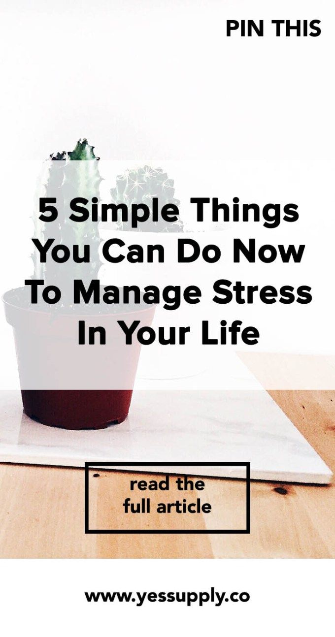 How to avoid stress 44