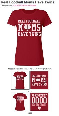 124b725bc Custom football mom shirts! Are you a football mom and you don't have one  but two kids who love playing school football. AND those kids are TWINS!