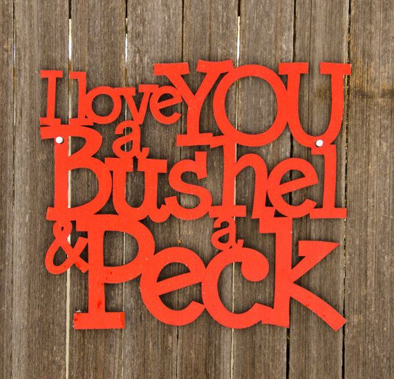 I Love You Bushel Peck Nursery Rhyme