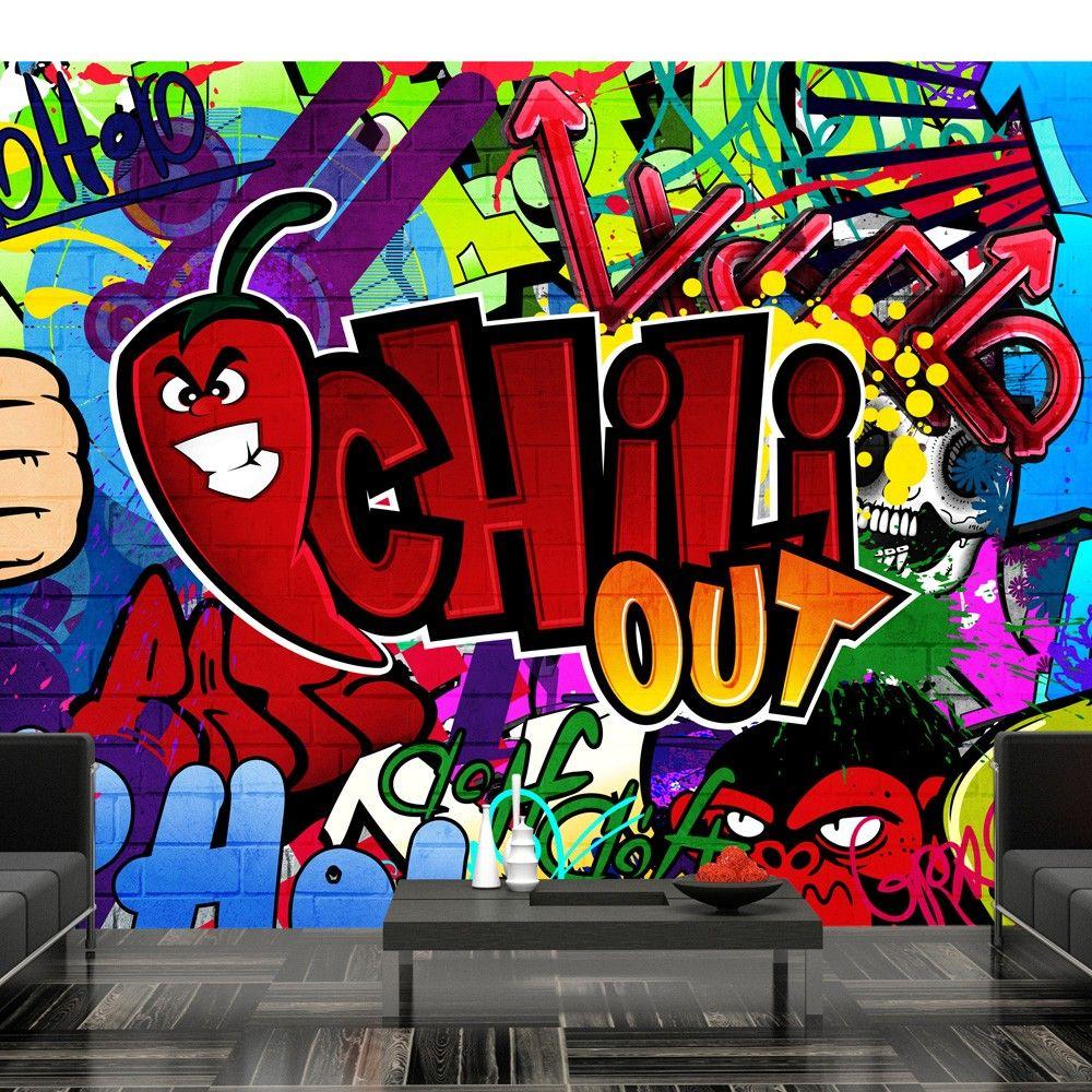 Wallpaper Chili Out Graffiti Wallpaper Mural Wall Art Wall Art Designs