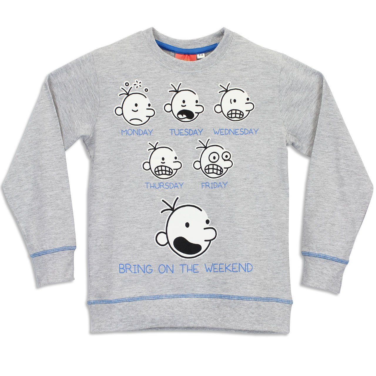 Character Boys Diary Of A Wimpy Kid Pajamas Greg Heffley Size 8  # Fabrica De Muebles Wimpy