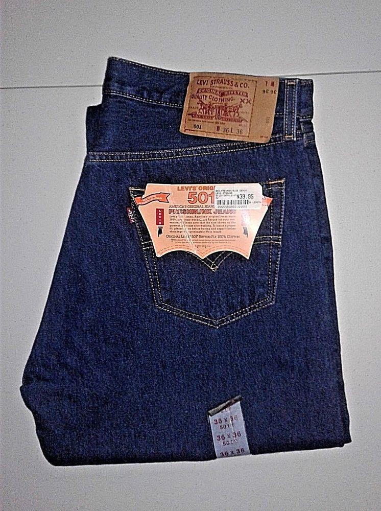 c27f849ea32 Mens Levi's 501, 36x36, Classic, Red Tab, Preshrunk Jeans, New! #Levis  #ClassicStraightLeg