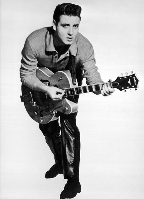 Eddie Cochran (October 3, 1938 - April 17, 1960) American singer, guitarist and composer.