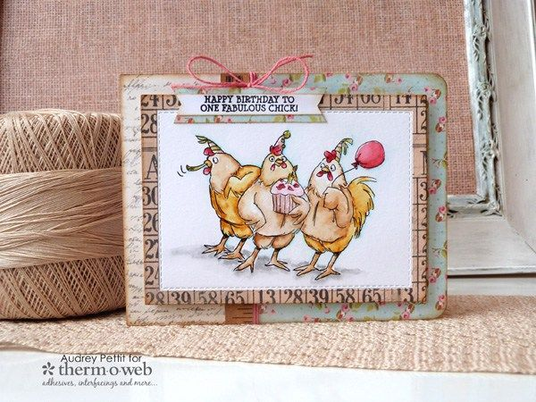 Art Impressions SPRING CHICKEN Clear Stamp Set AICS40