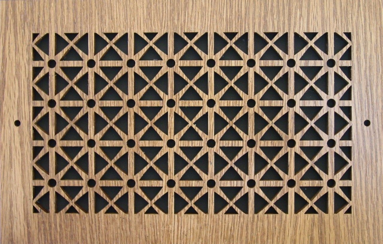 Wood Wall and Ceiling Vent Covers Pattern D Vent covers