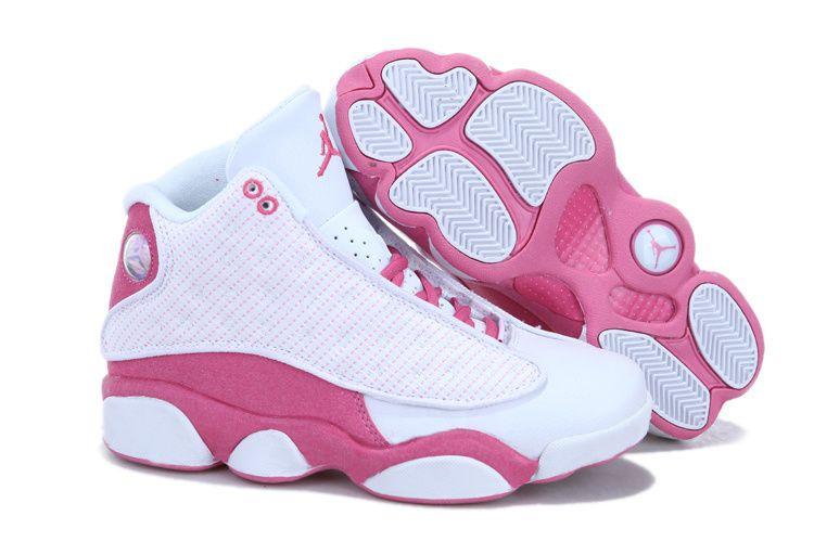 buy popular 76c26 7e421 2013 Air Jordan 13 White Pink For Women