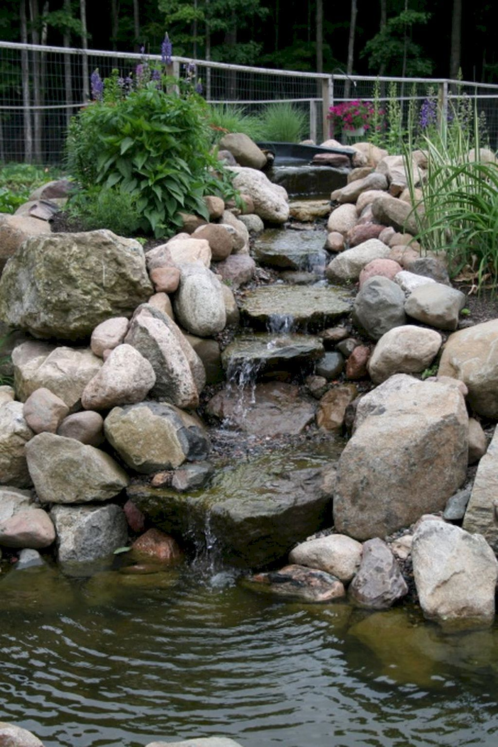 55 Small Backyard Waterfall Design Ideas