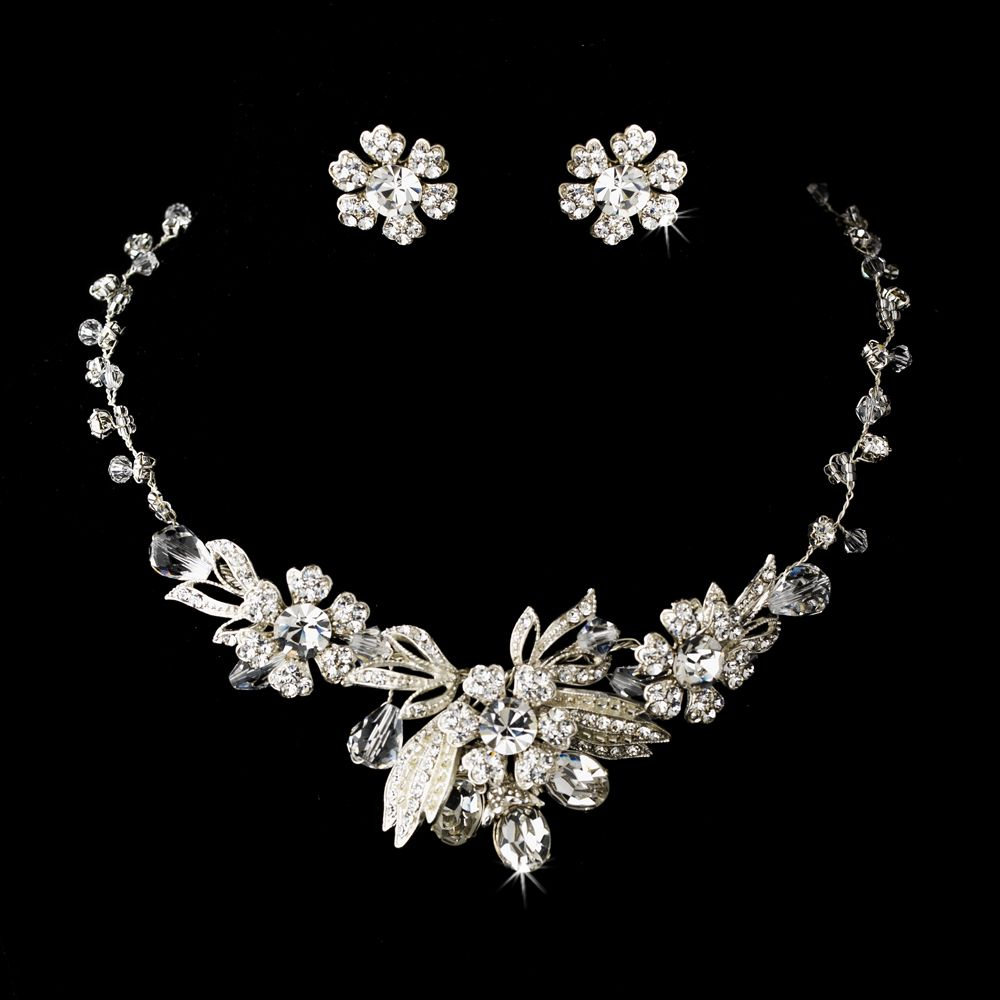 Vintage Inspired Silver Plated Wedding Jewelry Set | Vintage ...