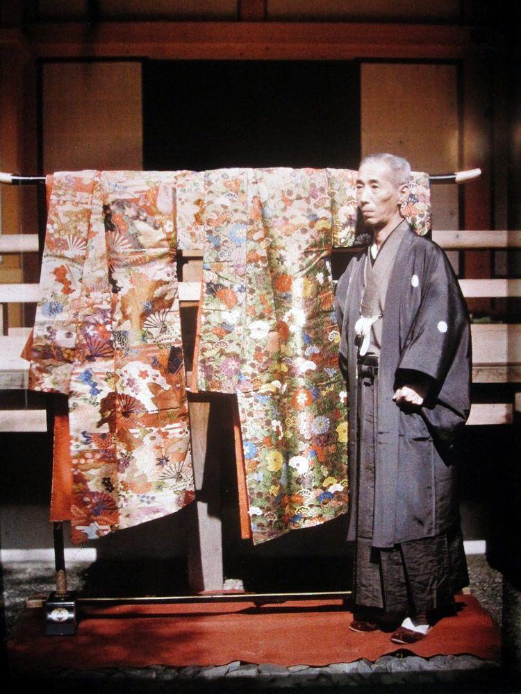 Kimono for Noh theater, Kyoto, 1912 by Albert Kahn