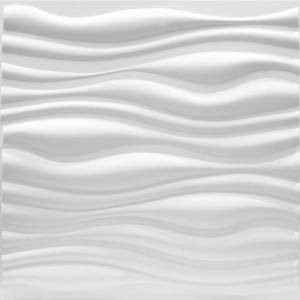 Luxorware 19 7 In X 1 In X 19 7 In White Pvc Fiber 3d Wall Panels 12 Pack Lw3d888 The Home Depot 3d Wall Panels Textured Wall Panels 3d Wall Tiles