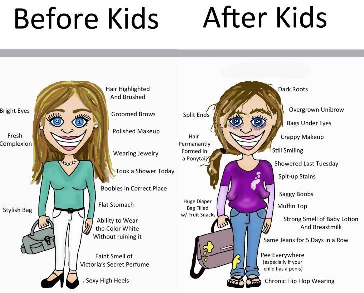 Before and after kids...