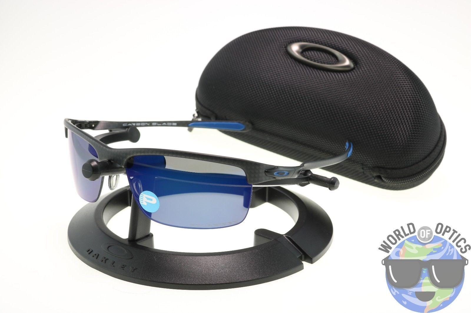 63c3f2f9181fb Oakley Carbon Blade Sunglasses OO9174-05 Matte Carbon w  Ice Iridium  Polarized