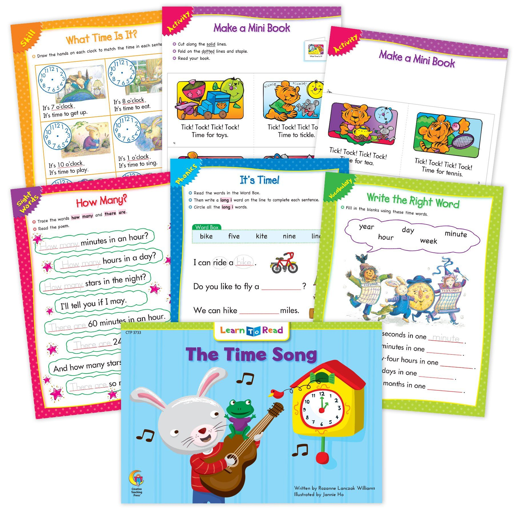 The Time Song Ebook Amp Worksheets In