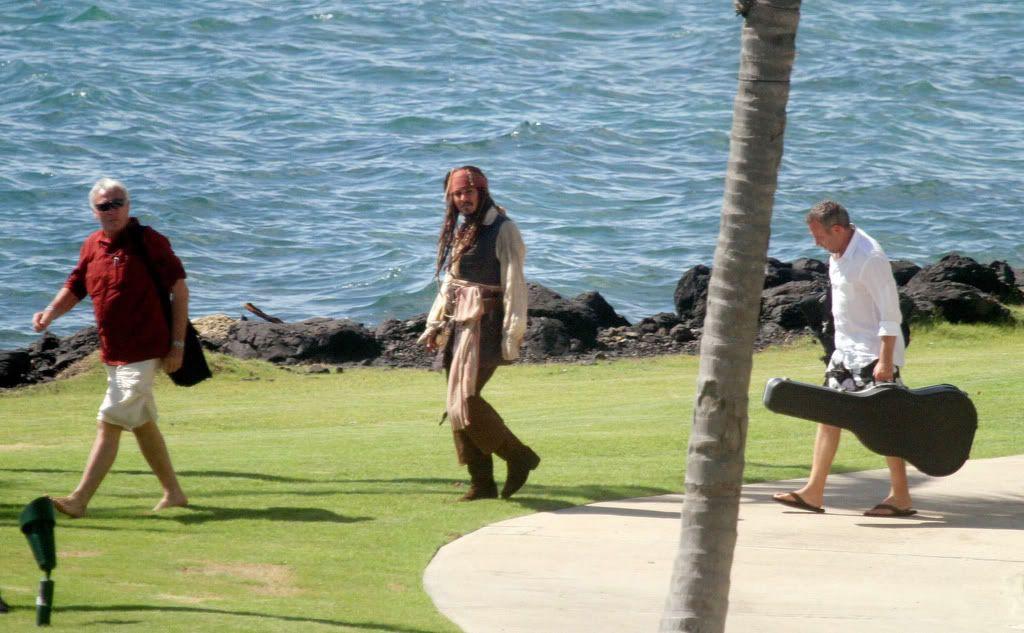 "On set of ""Pirates of the Caribbean on stranger tides"""