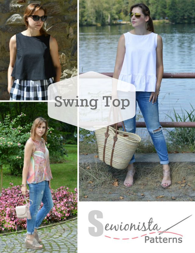 Hallo Swing Top! Willkommen Sewionista Patterns | Swing top ...