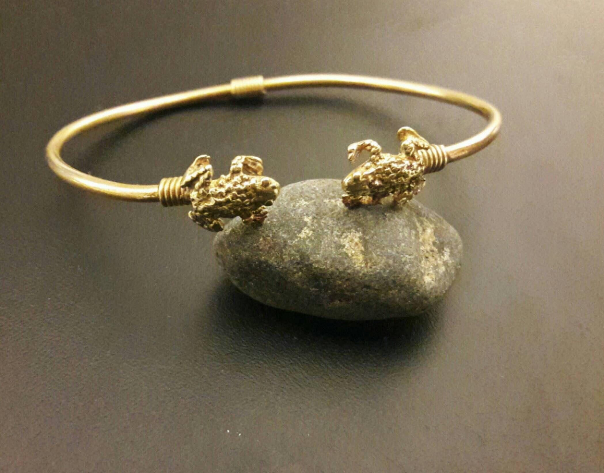 Mans bangle cuff braceletgolden banglebrass cuff braceleteligat