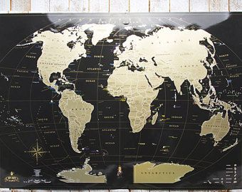 Black world map scratch off map scratch off world maps travel black world map scratch off map scratch off world maps travel map gumiabroncs