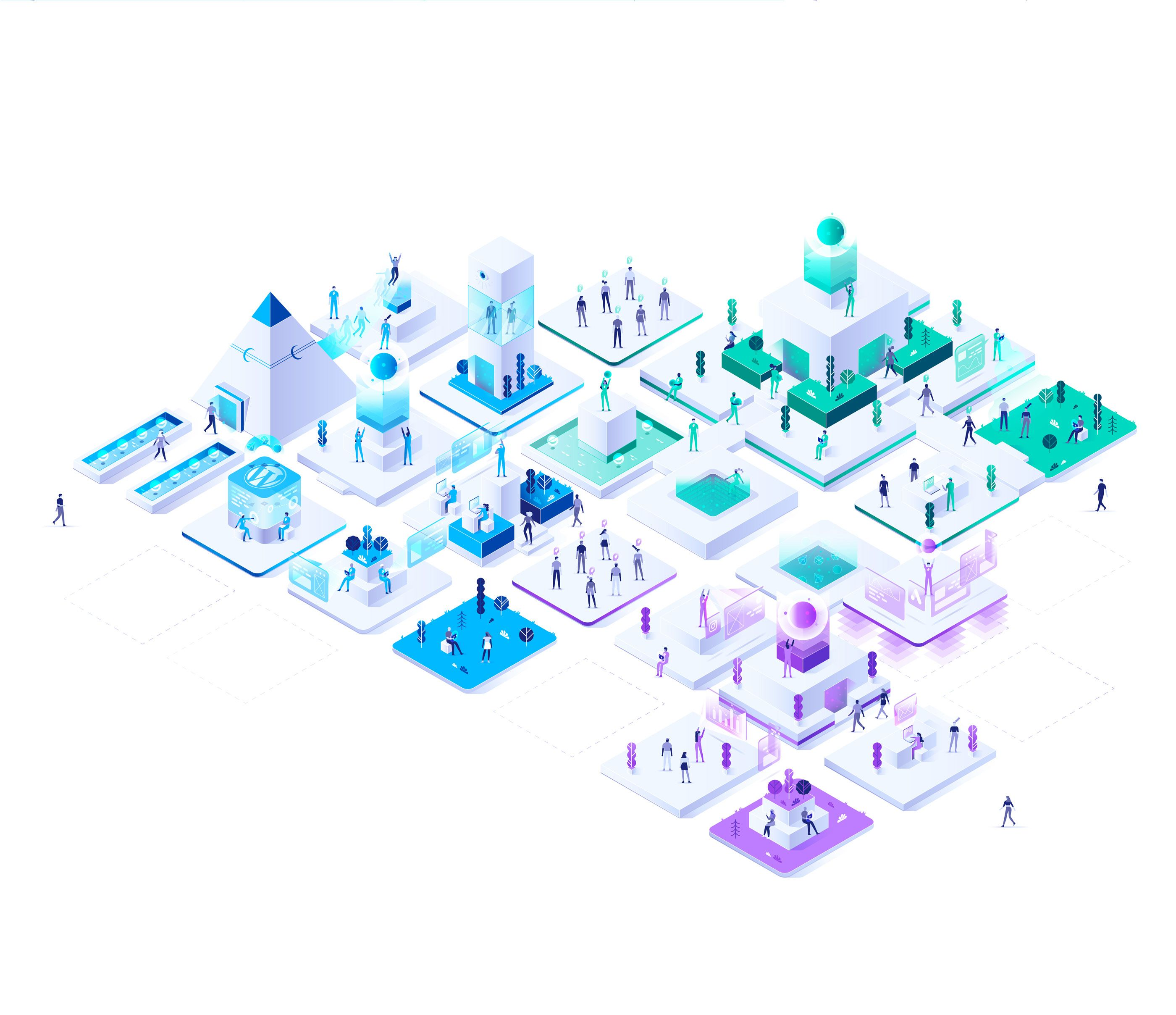Nordic Smart City On Behance Smart City Isometric Design City Design