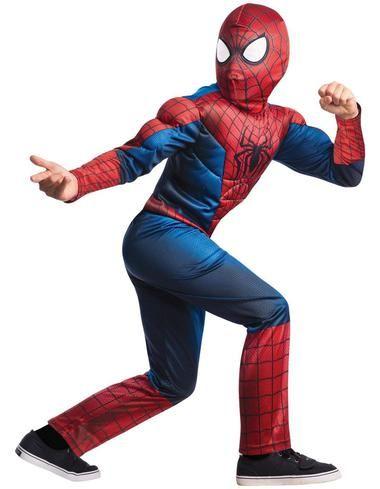 The Amazing Spiderman 2 CHILD Costume Kit Shirt Mask Size M Medium 8-10 NEW