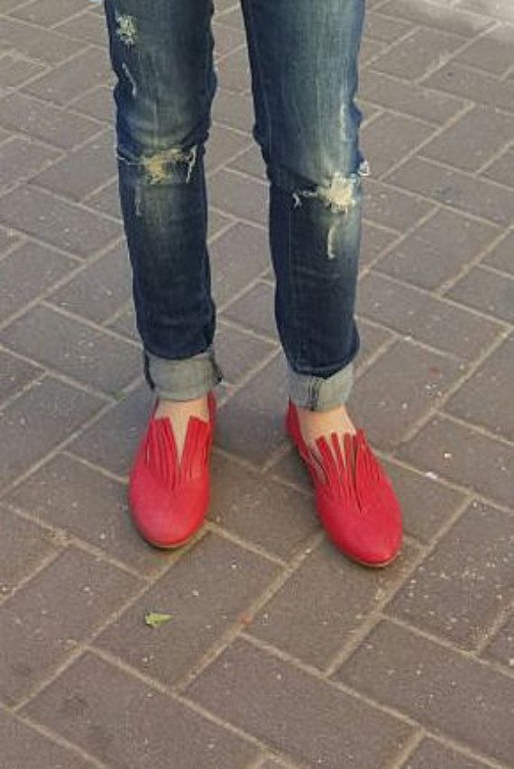 Girls ballet shoes, Red shoes flats