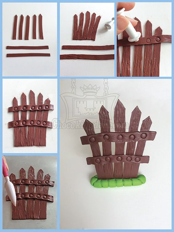Fence Cake Topper Decoration #fondant