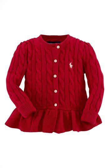 81c24f078651 Ralph Lauren Peplum Cardigan (Baby Girls) available at  Nordstrom ...