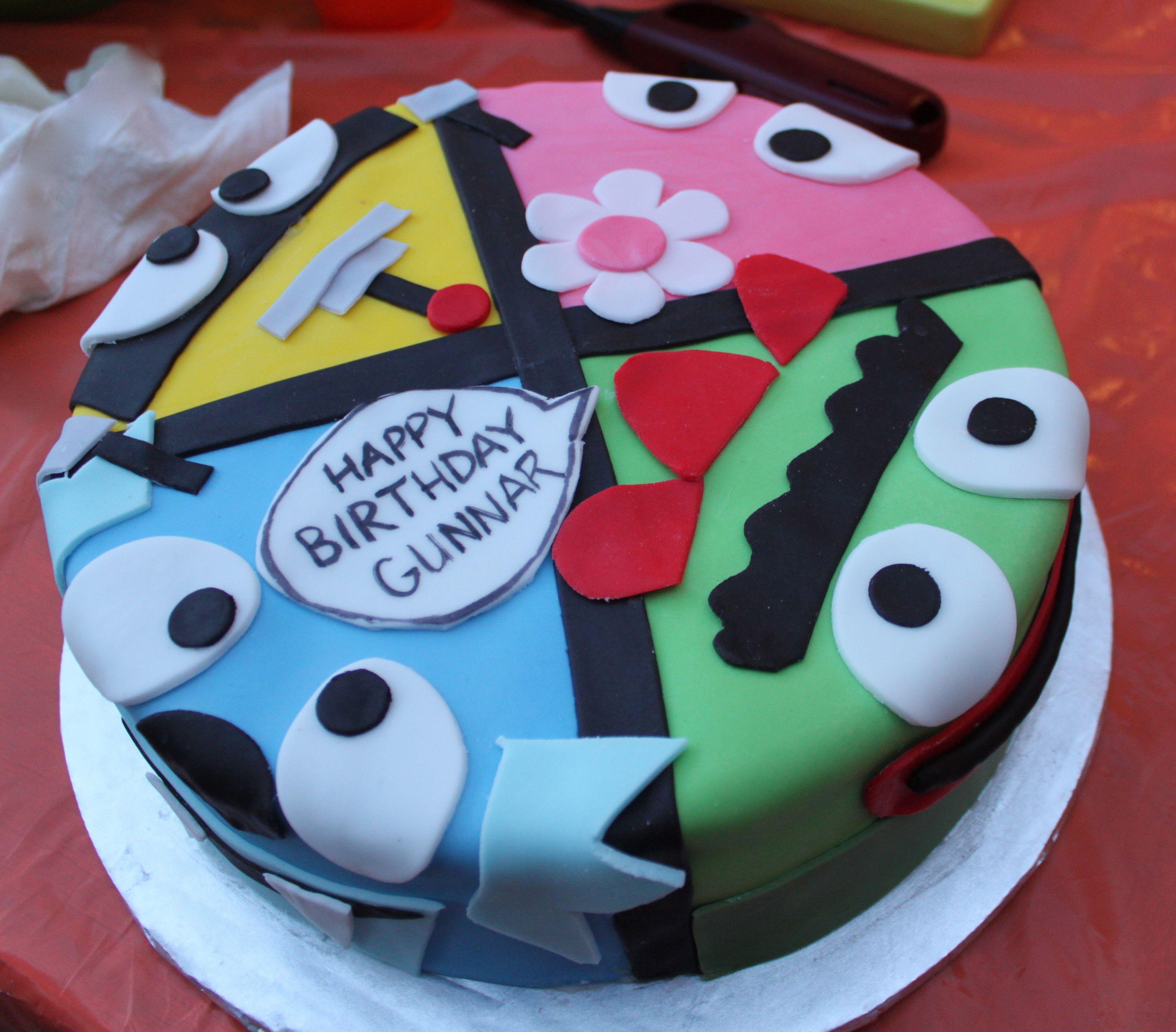 Guns yo gabba gabba birthday cake by sugars cupcake