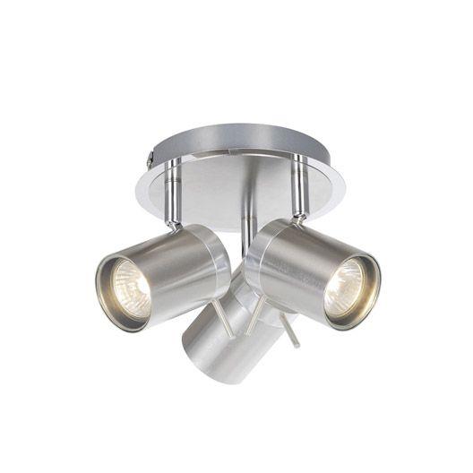 Plafonnier 3 Spots Mizil Inspire Halogene Eco 3 X 33 W Gu10 Acier Luminaire Luminaire Salle De Bain Eclairage Escalier