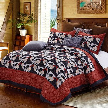 Turn your home into a mountainside lodge with bedding, throws, furniture protectors and more in pleasing prints and hues.