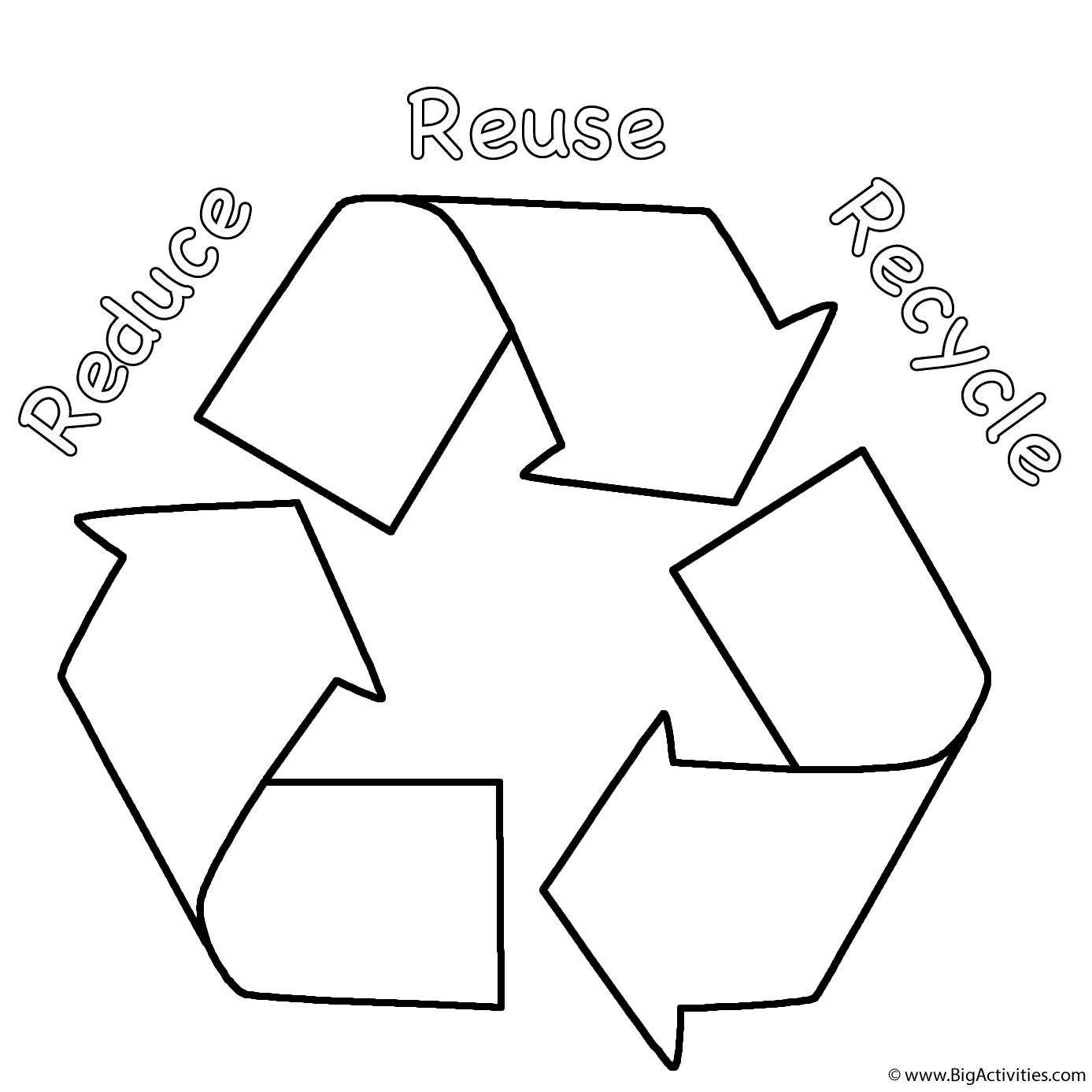 Coloring Page Earth Day Coloring Pages Earth Coloring Pages Reduce Reuse Recycle
