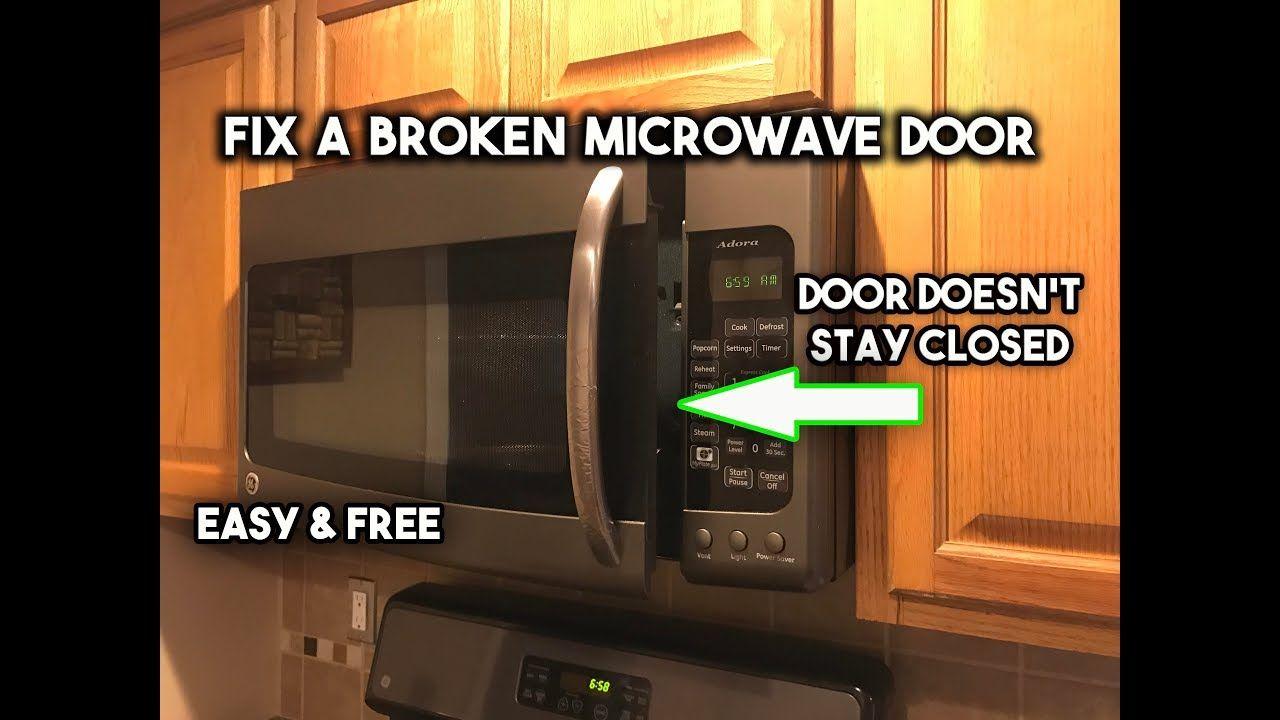 Repair A Broken Microwave Door Latch Door Latch Microwave Doors