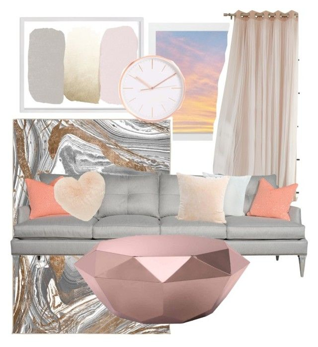 """Coral summer"" by naturallyhigh on Polyvore featuring interior, interiors, interior design, home, home decor, interior decorating, Oliver Gal Artist Co., Zuo and Nordstrom"