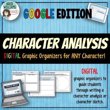 Character Analysis for ANY Novel or Short Story - Google \/ Digital - character analysis