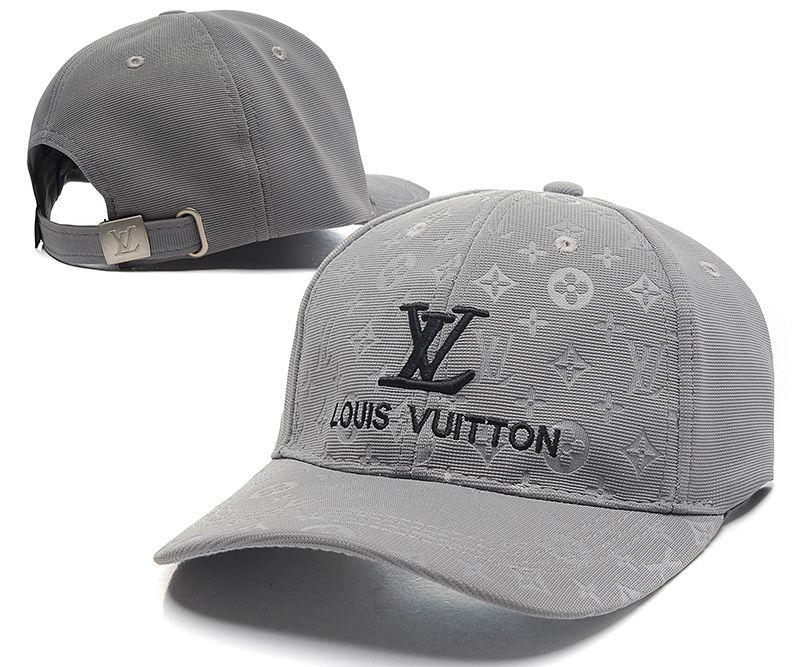 Louis Vuitton Peaked Caps Monogram Canvas Baseball Caps LV Strapback Caps  Gray 012 3f95b8f4c74