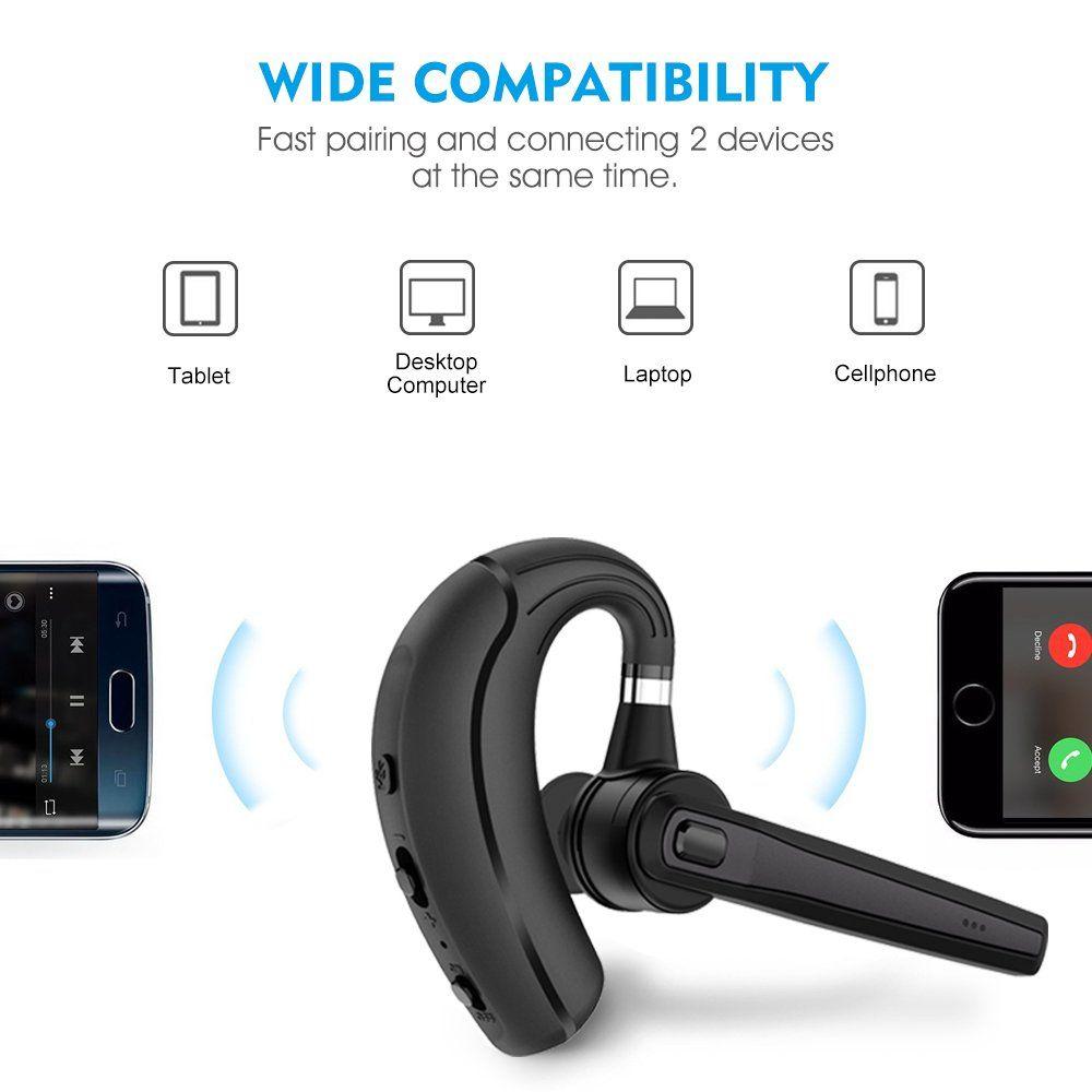 Bluetooth Headset Wireless Earpiece Bluetooth For Phones Inear Piece Handsfree Headphone Office Phone Headsets W Mic Noise Headset Bluetooth Headset Earpiece