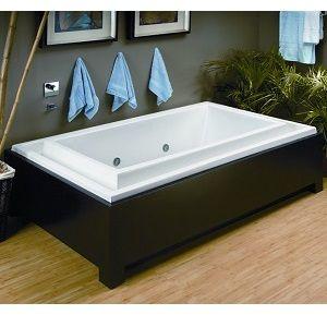 Infinity Edge Soaking Tub Modern Bathtub Tub Dream Bathtub