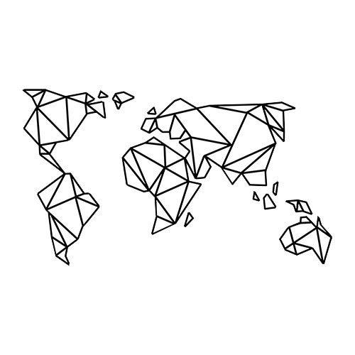 geometric world tattoo world pinterest weltkarte geschenkideen und selbermachen. Black Bedroom Furniture Sets. Home Design Ideas