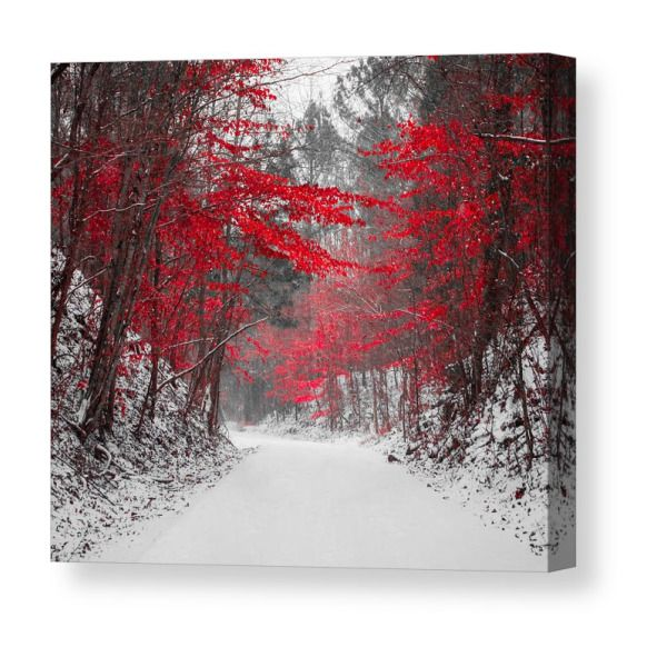 Red Blossoms Horizontal Canvas Print