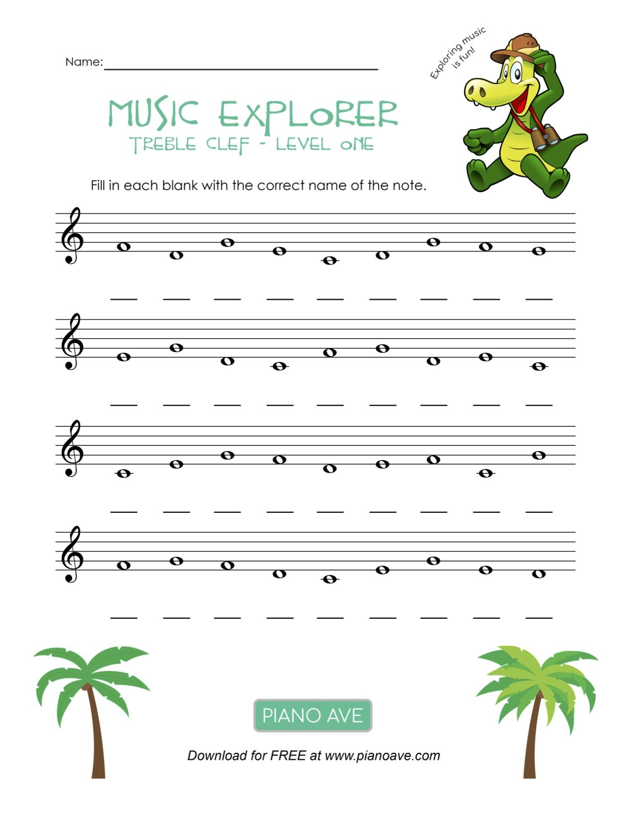 Pin By Piano Ave On Music Worksheet