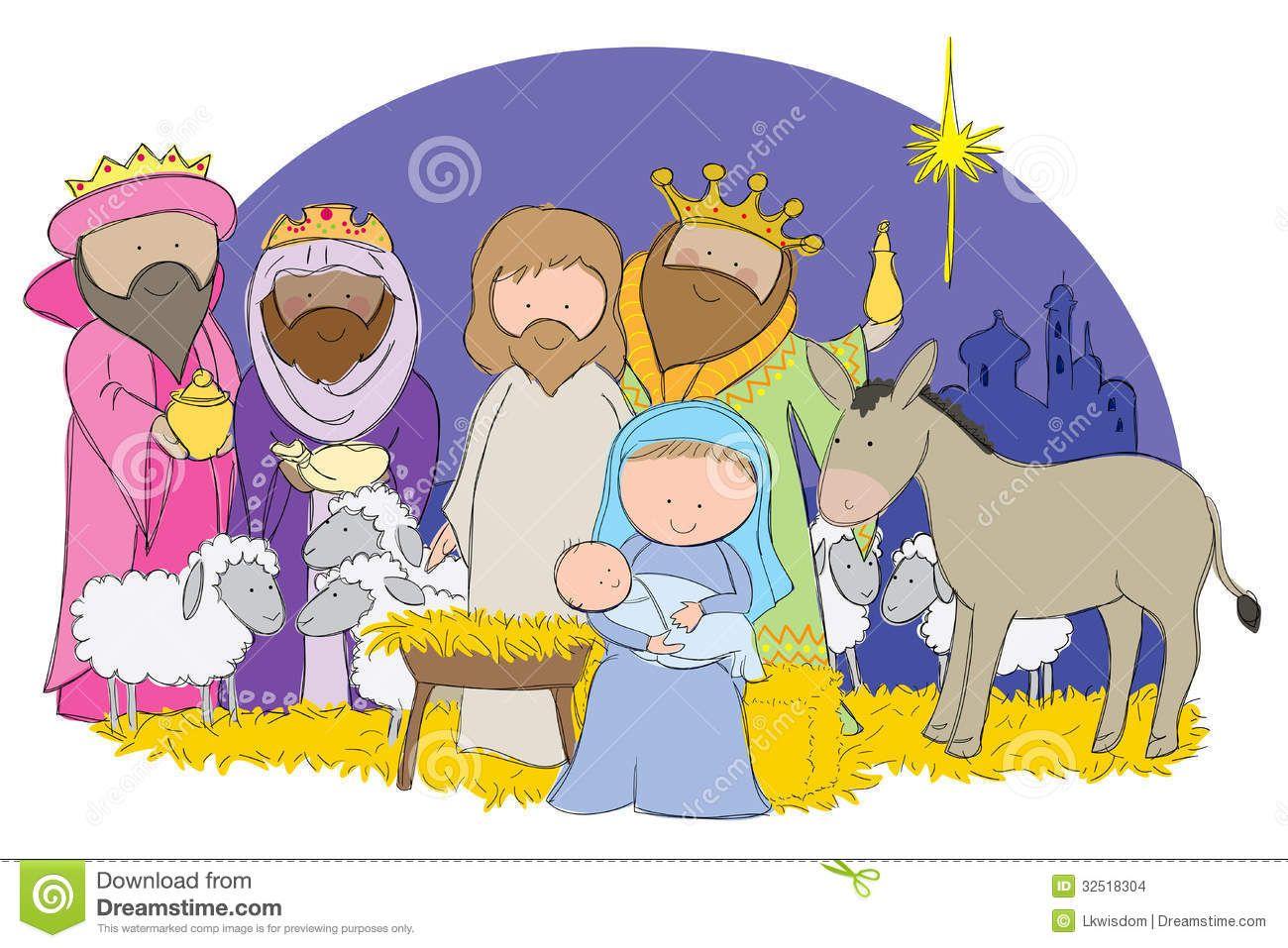 clip art of nativity scene manger