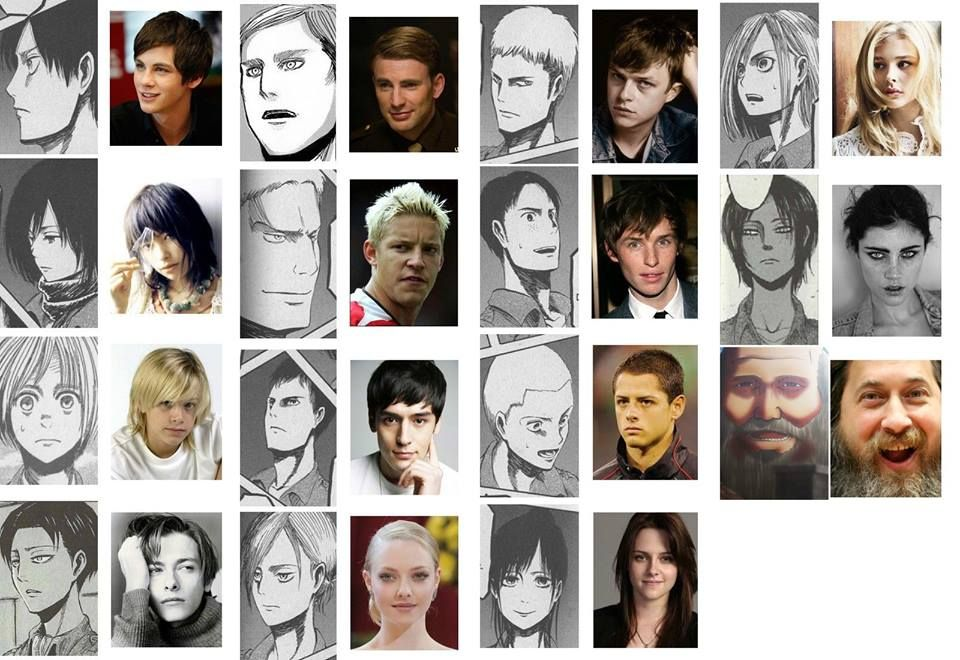 Attack On Titan Characters: Look alike in Real Life. OK NOW SOMEBODY MAKE A MOVIE OR REMAKE THE SHOW USING THESE ACTORS!