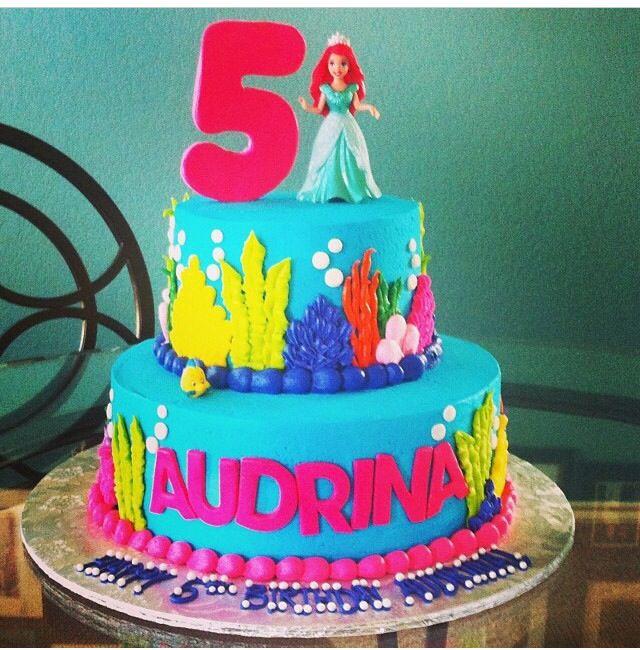 Little Mermaid Birthday Cake Bettierockercakesblogspotcom San