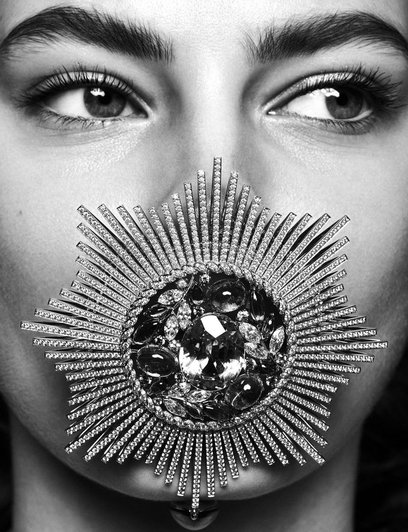 Photo of Felice Noordhoff Sparkles in Chanel Jewelry for Mirror Mirror