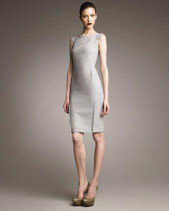 Roland Mouret O Hara Dress Dove Gray Neiman Marcus